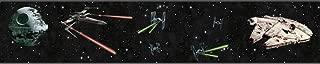 York Wallcoverings Disney Kids III Star Wars Classic Ships Border, Blacks