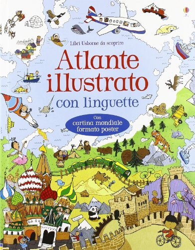 Atlante illustrato. Ediz. a colori. Con Carta geografica ripiegata