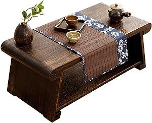 Tavolini da caffè Tavolino Pieghevole Tavolino in Legno Massello Tavolino da Balcone Tavolo Laptop Tavolino da Salotto Tavolo da tè Tavolo da Lavoro (Color : Brown, Size : 80x40x33cm)