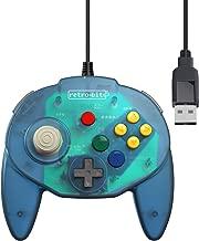 Retro-Bit Tribute 64 USB Controller for PC, Nintendo Switch, Mac, Steam, RetroPie, Raspberry Pi - USB Port - (Ocean Blue)