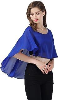brand new 99cb3 892b4 Amazon.it: coprispalle donna elegante - Blu: Abbigliamento