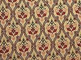 Dekorativer Wandteppich, gewebt, Rot/goldfarben –