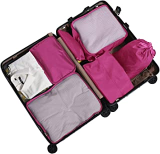TravelPal Pink Packing Cubes, Lightweight Travel Suitcase Organiser with Passport Holder