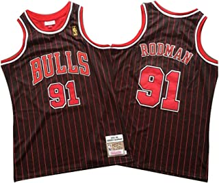 Maglia da Basket da Uomo Dennis Rodman # 10 Detroit Pistons Street Tshirt retr/ò Ricami Estivi Top Boy Swingman Costume da Basket Regalo di Compleanno S-3XL