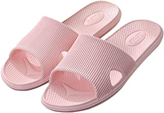 Enerhu Women Slippers Anti-Skid Men Sandals Quick Dry Shower Flip-Flops for Bath Pools Hotel