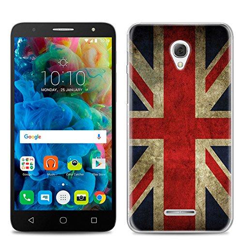 Easbuy Handy Hülle Soft Silikon Hülle Etui Tasche für Alcatel One Touch Pop 4 5,0 Zoll 5051D 5051J 5051M 5051X Smartphone Cover Handytasche Handyhülle Schutzhülle