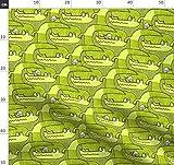 Alligator, Krokodil, Komisch, Wildnis, Khaki Stoffe -