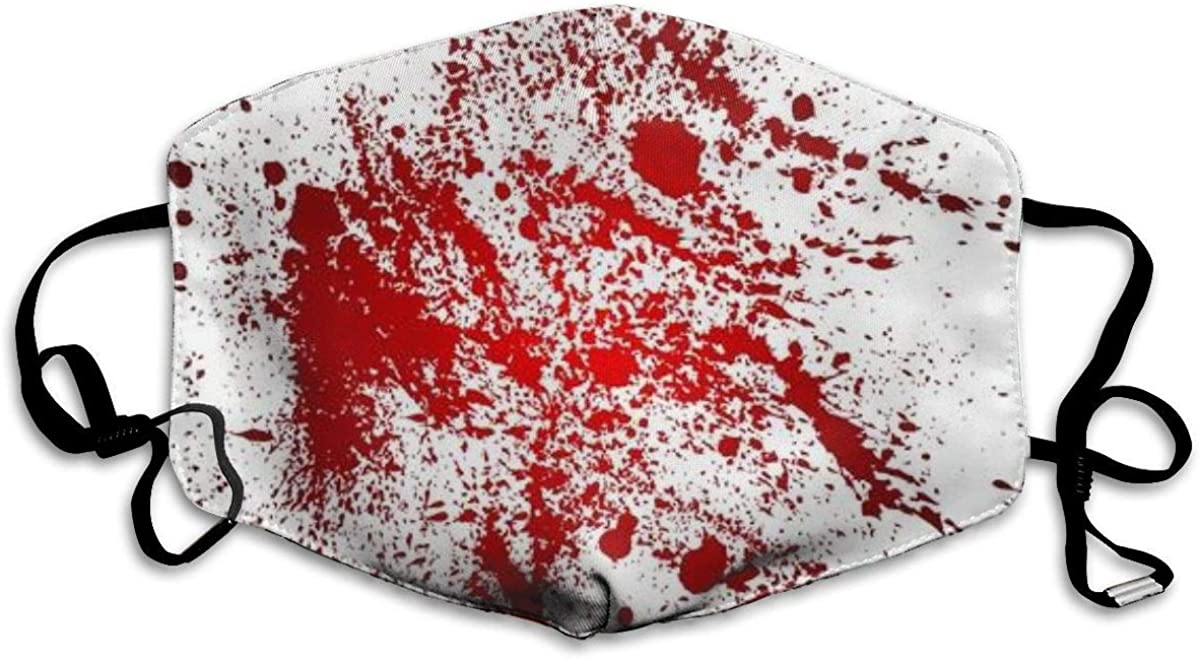 Abstract with Blood Splatters Mask Mouth Mask Neck Gaiter Mask Bandana Balaclava Easter St. Patrick's Day