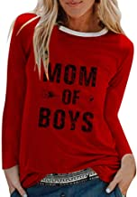 KANGMOON Womens Solid Color T Shirt Casual Cotton Short Sleeve Round Neck Letter T-Shirt Tops Tees Pullover Sweatshirt S-3XL