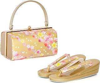 (キョウエツ) KYOETSU 成人式 振袖用 草履バッグ 2点セット 桜柄 3タイプ フリーサイズ