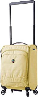 "Mia Toro M1127-20in-lim Italy Kitelite Strato Softside Spinner 20"" Carry-on, Yellow"