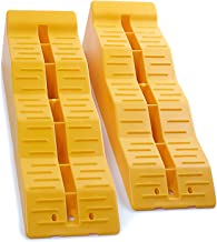 OxGord RV Leveling Ramps - Camper or Trailer Leveler/Wheel Chocks for Stabilizing Uneven Ground and Parking - Set of 2 Blo...