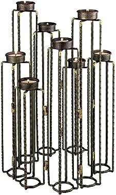ELK Lighting Elk Home Ascencio Hinged Candle Holders, Rust