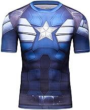 Men's Superhero Compression Shirts Batman Dri Fit Print Tee Short Sleeve