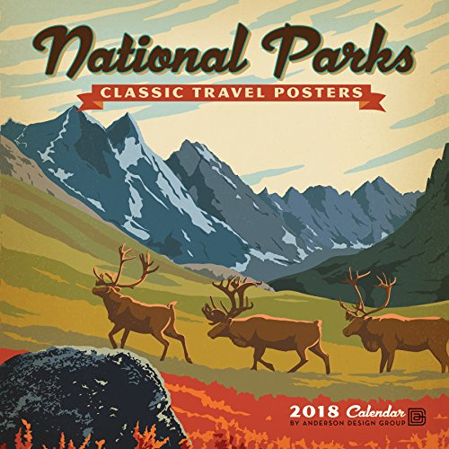 National Parks Classic Posters 2018 Wall Calendar