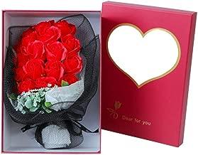 Scrafts Red 19 Scented Bath Soap Rose Petals Net Bouquet Gift Box Set