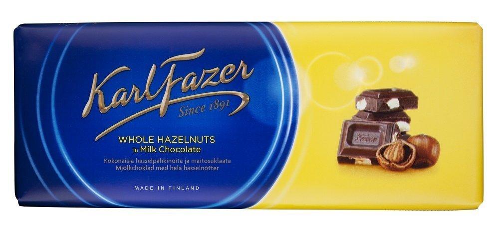 Fazer Blue Milk Chocolate with 55% OFF Hazelnuts Max 52% OFF Whole 200g Ba