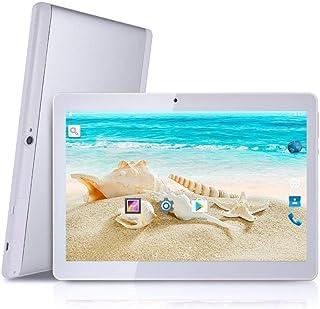 Tablet Android 8.1 de 10 Pulgadas Octa Core CPU 4 GB RAM 64 GB Memoria Interna WiFi Cámara GPS Doble SIM sin Bloqueo Red 3G Tablet Plateado Metallo Argento