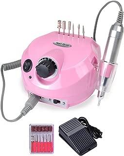 110V 30000 RPM Professional Electric Acrylic Nail Drill Machine File Buffer Bits Manicure Pedicure Kit Pink