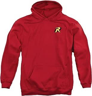 Batman Robin Logo Costume Superhero Adult Pull-Over Hoodie