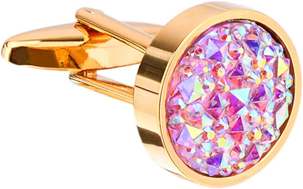Luxury Crystal Glass Sleeve Men Cufflinks Business Sleeve-Shirt Accessories