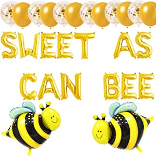 Sweet As Can Bee Balloons, Bumble Bee Baby Shower Banner, Mommy to Bee/Bee Gender Reveal/Bee Welcome Baby Theme Party Birthday Supplies Decoration