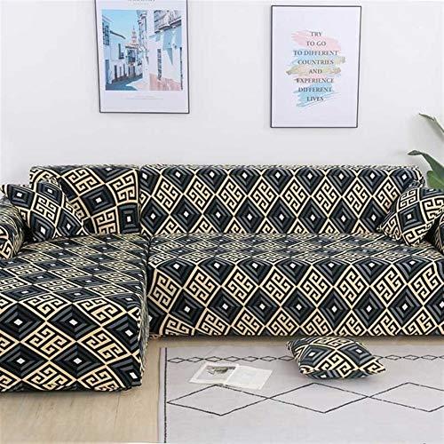 HNXCBH Funda de sofá elástica de algodón que necesita pedir 2 piezas cubiertas para la esquina en forma de L sofá seccional cubierta para sala de estar color sólido
