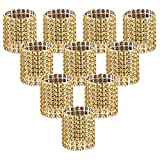 Accmor 100pcs Napkin Rings, Gold Napkin Rings Buckles for Table Decorations, Wedding, Dinner,Party, DIY Decoration