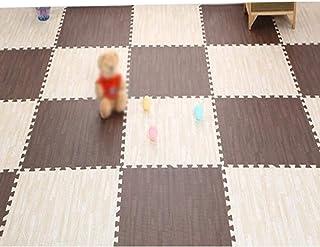 MAHFEI Interlocking Foam Mat Wood Texture Gym Living Room Baby Crawling Waterproof Soft Non-slip PE,5 Colors Free Combinat...