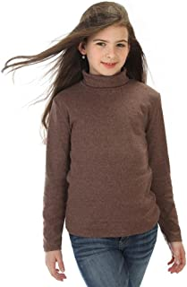 high5 Big Girls solid Color Turtleneck 100% Cotton (6-14 Years) Multiple Colors
