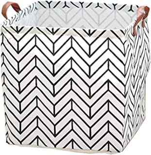 A Triangle Kids Laundry Basket// Nursery Hamper Pauwer Large Storage Bin 13.7x15.7 Fabric Toy Box// Toy Storage// Toy Organizer for Boys and Girls