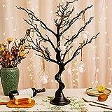 Nother Ramas de árbol negro, decoración de árbol de deseos artificial negro, centro de mesa para cumpleaños, cena, fiesta, interior y exterior, decoración del hogar (negro)