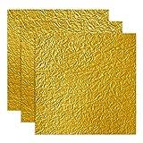 かわ澄 和紙かわ澄 金色 黄金色 もみ紙 約15×15cm 10枚入
