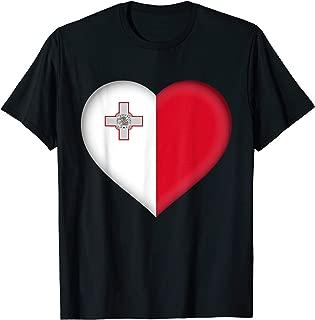 I Love Malta T-Shirt   Maltese Flag Heart Outfit