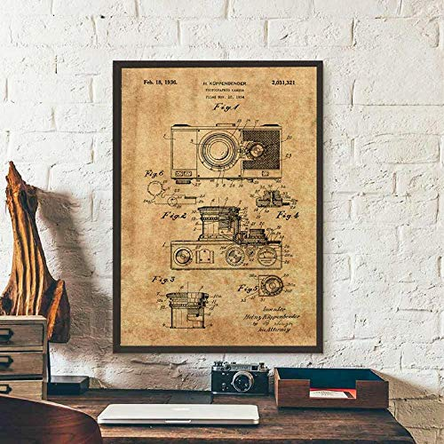 FA LEMON Kamera Vintage Poster leinwand kunstdrucke wandkunst leinwand malerei Fotografie Dekoration- 50x70cmx1 stück kein Rahmen