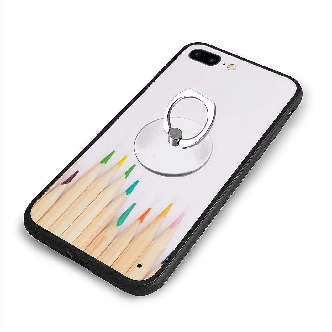 兵器庫物理薬色鉛筆iPhone 7/8 Plusケースリングブラケット 携帯カバー 創意デザイン軽量 傷つけ防止 360°回転ブラケット 携帯ケース PC 衝撃防止 全面保護