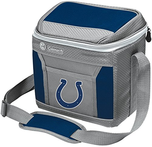 Coleman NFL Soft-Sided Insulated Cooler and Lunch Box Bag, 9-Can Capacity, Indianapolis Colts
