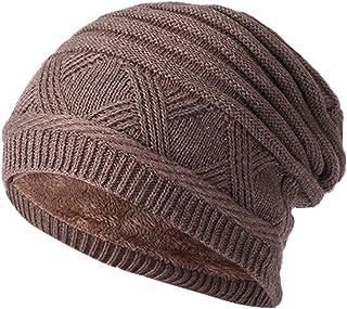 DEATU Men Women Winter Baggy Warm Crochet Wool Knit Ski Beanie Skull Slouchy Caps Hat