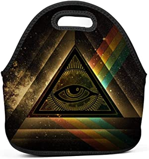 UNVMC Eye of Shiva Reusable Neoprene Insulated Lunch Bag School Picnic Waterproof Carry Gourmet Lunch Box Women Children Boys and Girls