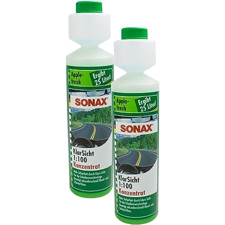 Sonax 3x 03721410 Klarsicht 1 100 Konzentrat Apple Fresh Scheibenreiniger 250ml Auto