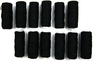 Crispy 12 Pieces Hair Weaving Thread Selection (Black)
