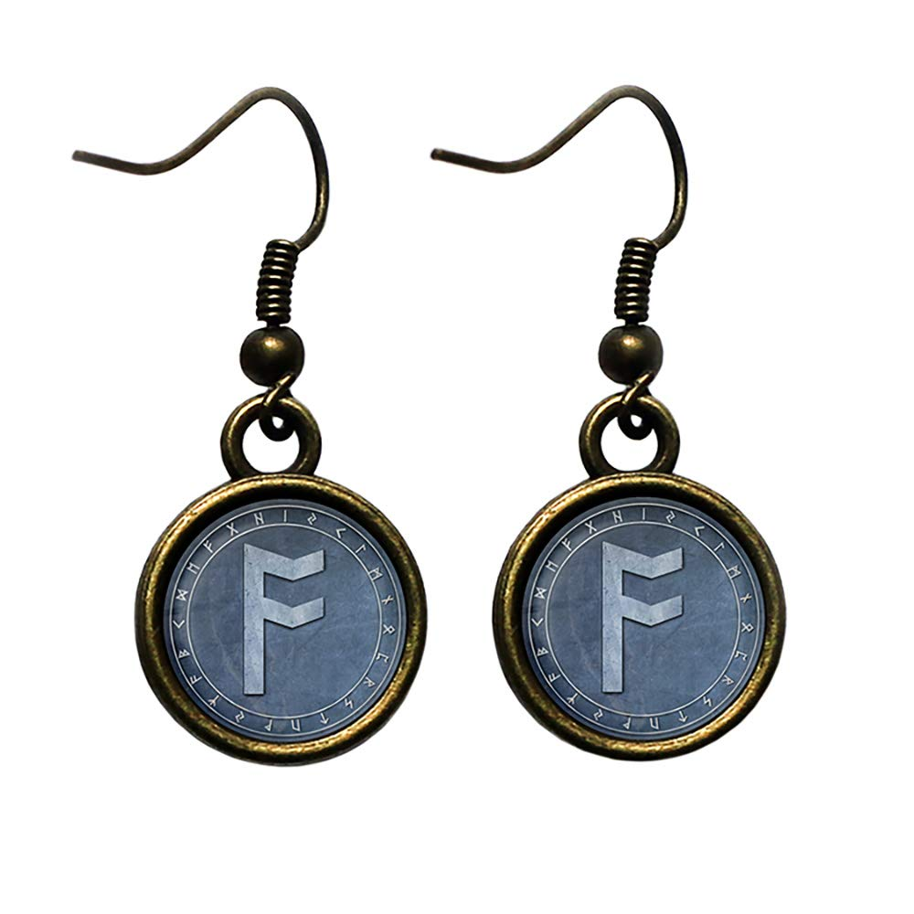 Tulsa Mall Viking Runes Elder Futhark Rune Circle Challenge the lowest price Ansuz Antique Bron Odin A