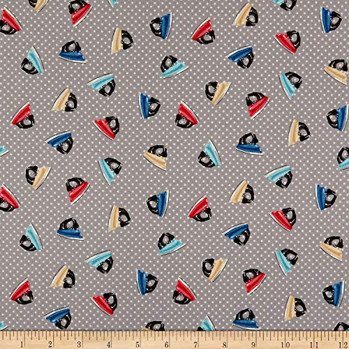 Andover/Makower UK Stitch in Time Irons Grey Fabric by the Yard