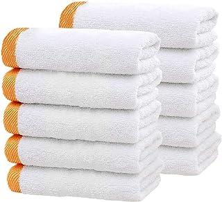 白タオル 10枚セット 業務用 ホワイト フェイスタオル 貴重な超長綿使用 速乾 高速吸水 無蛍光染料 ホテルスタイルタオル コットン100% 90g/枚(72cm*32cm)Bed Linling