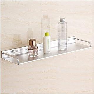 Porte-serviettes Salle de bain Etagère coin avec rail mural Mounted douche étagère panier Espace Aluminium Rectangle Suppo...