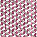 Equipo DRT Volver - Papel pintado fractal vintage, color fucsia, 1 rollo