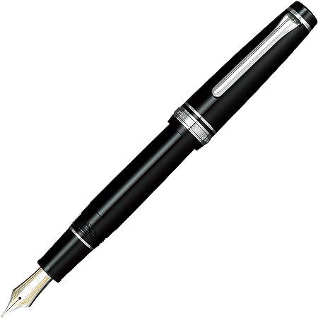 セーラー万年筆 万年筆 プロフェッショナルギア 銀 ブラック 中字 11-2037-420