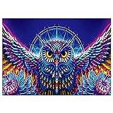 Costura bordado de diamantes colorido búho 5D diamante pintura mosaico cuadro hecho a mano rhinestone decoración del hogar
