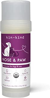kin+kind Organic Nose & Paw Relief Stick 2.3 oz - Mosturizer for Dogs and Cats - Shea Butter, Jojoba Oil, Beeswax and Aloe...