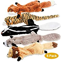 5 Pack Two Squeaky Cute Animals